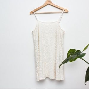 GARAGE | White Crochet Lace Festival Mini Dress